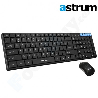Astrum Wire ELETE COMBE UB Compact and Ultra Slim Deskset Choco USB Keyboard + USB Mouse Combo