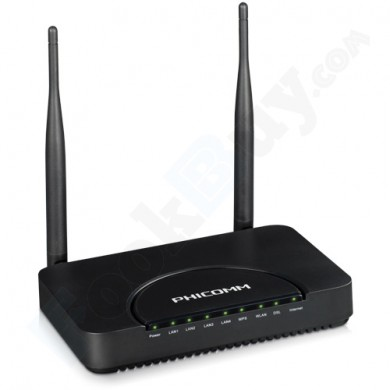 Phicomm FD-374N Up to 300Mbps Wireless N ADSL2/2+ Modem Router