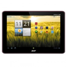 "Acer Iconia Tab A200-10r16u 10.1"" 16 GB Android Wi-Fi Tablet PC - Metallic Red"
