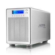 "Akitio Hydra Super-S LCM USB SATA FireWire eSATA 3.5"" 4Bay RAID LCD Display External Enclosure - Silver"
