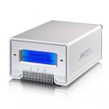 "Akitio Silver Taurus Mini Super-S LCM 2.5"" SATA FireWire eSATA USB 2.0 Daul Bay LCD Display RAID PC Mac Enclosure"