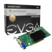 EVGA 256-P1-N400-LR GeForce 6200 256MB 64-bit GDDR2 PCI Video Card