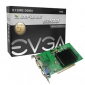 EVGA 512-P1-N402-LR GeForce 6200 512MB 64-bit DDR2 PCI Video Card